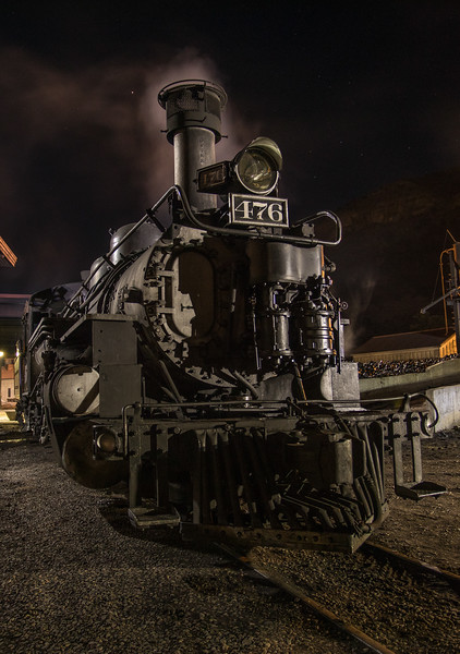 The 476 will pull our Photographer's Special the next two days. The 470 series (K-28s) was built in 1923 by the Schenectady Locomotive Works of the American Locomotive Company.