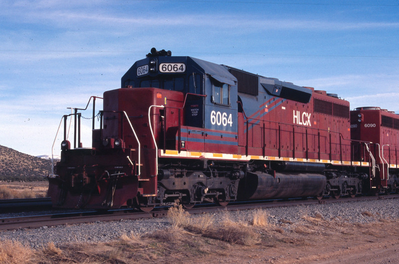 HLCX 6064 in service on CML Metals railroad. Iron Springs, Utah. December 29, 2011. <i>(Robert Lehmuth Photo)</i>