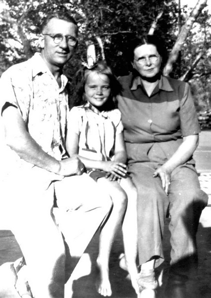 John, Lillian & Jeanette Foote  John & Lillian adopted his sister Gladys' youngest daughter;  she died young)