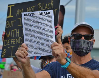 Protest Against Police Killings & Systemic Racism - Rehoboth Beach, Delaware  6/5/20