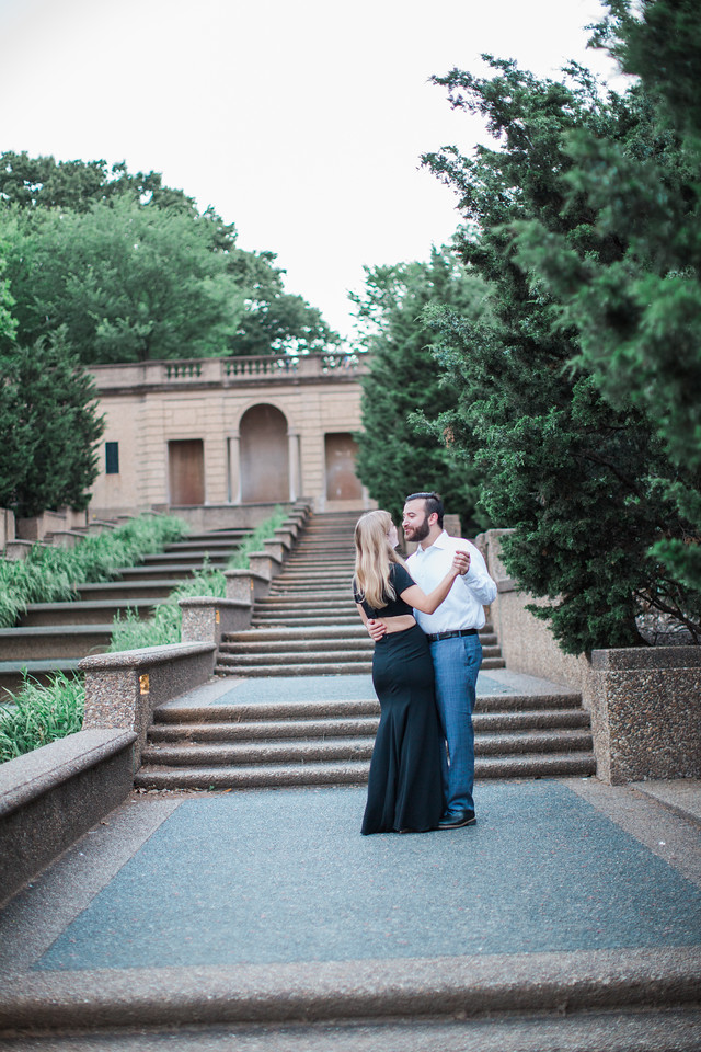 Meridian Hill engagement session in Washington, DC with Jalapeno Photography.