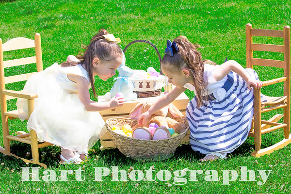 Twins Easter Photos
