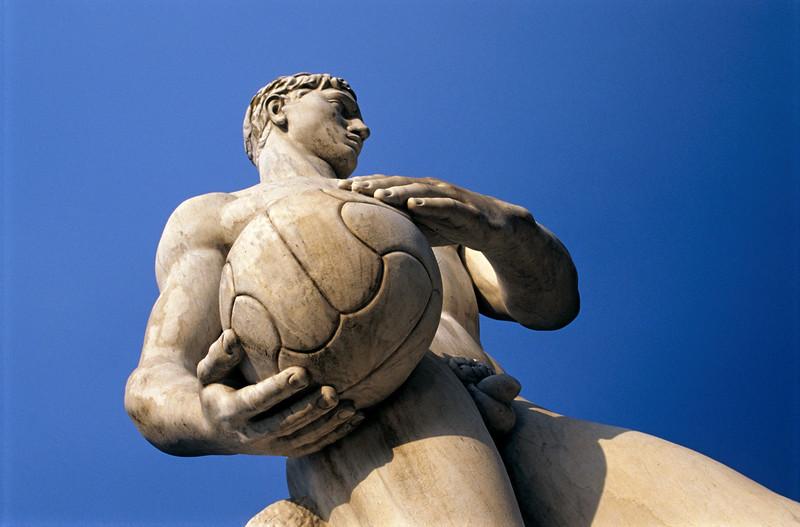 Football Player Statue, Foro Italico, Rome, Italy