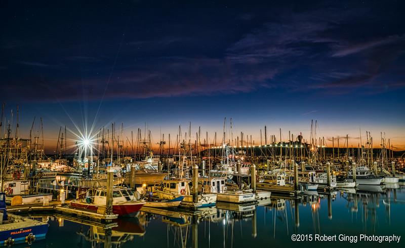 Sunset at Pillar Point Marina