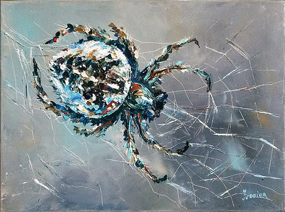 """""""Spider 2"""" (oil on canvas) by Kateryna Ivonina"""