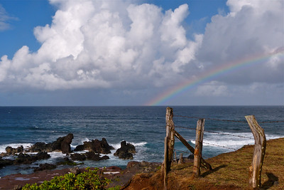 Rainbow East of Ho'okipa December 2013, Cynthia Meyer, Maui, Hawaii