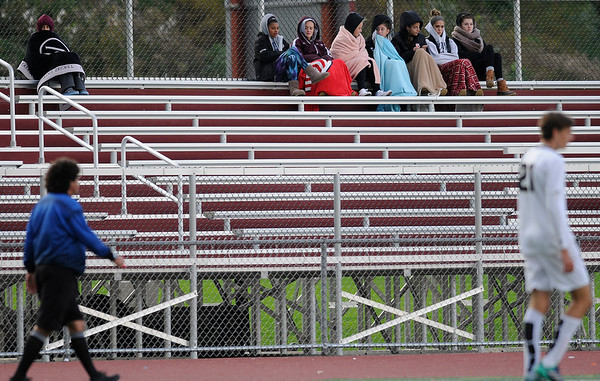 10/17/2018 Mike Orazzi | Staff Fans during the boys soccer match between Newington and Bristol Central at BC in Bristol Wednesday afternoon.
