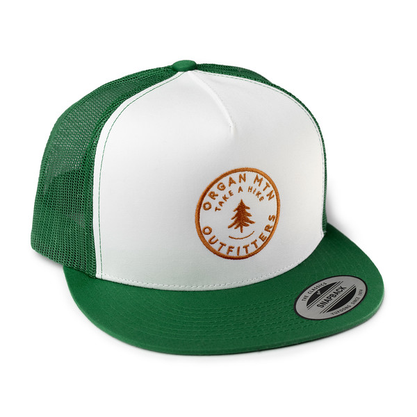 Outdoor Apparel - Organ Mountain Outfitters - Hat - Take A Hike Trucker Cap - Green White Orange.jpg