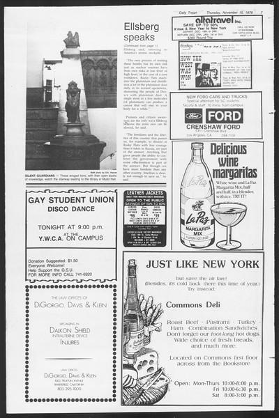 Daily Trojan, Vol. 87, No. 43, November 15, 1979