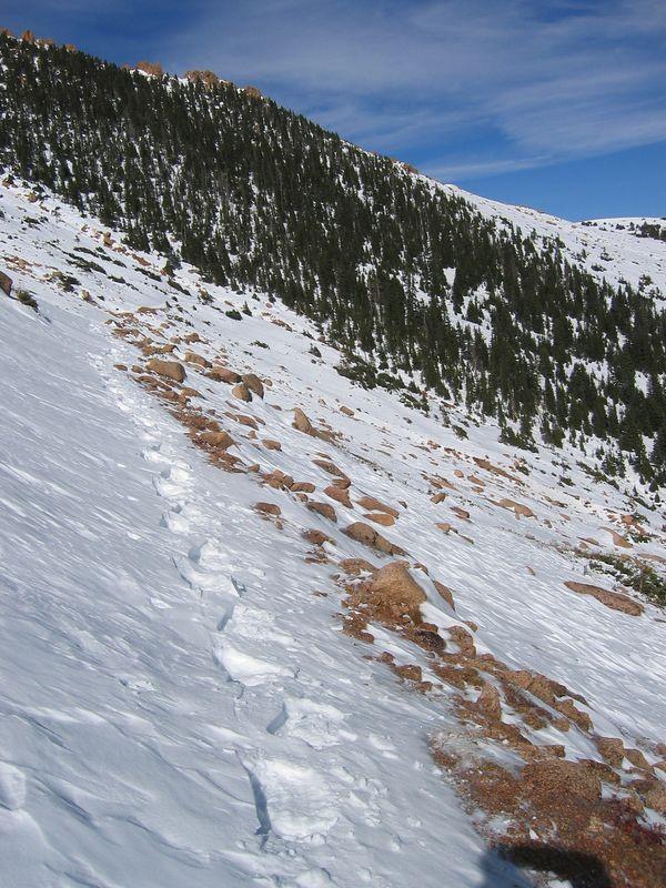 Hmm, footprints?  I must be looking behind me!