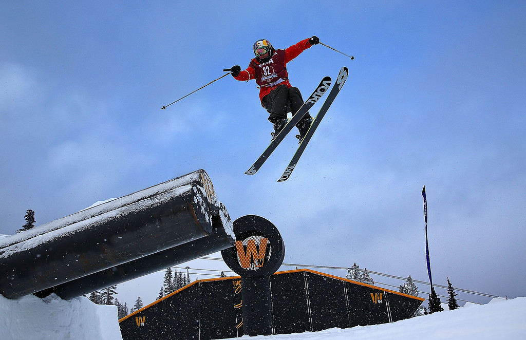 . Grete Eliassen competes during qualifying for the women\'s FIS Ski Slopestyle World Cup at U.S. Snowboarding and Freeskiing Grand Prix on December 20, 2013 in Copper Mountain, Colorado.  (Photo by Mike Ehrmann/Getty Images)