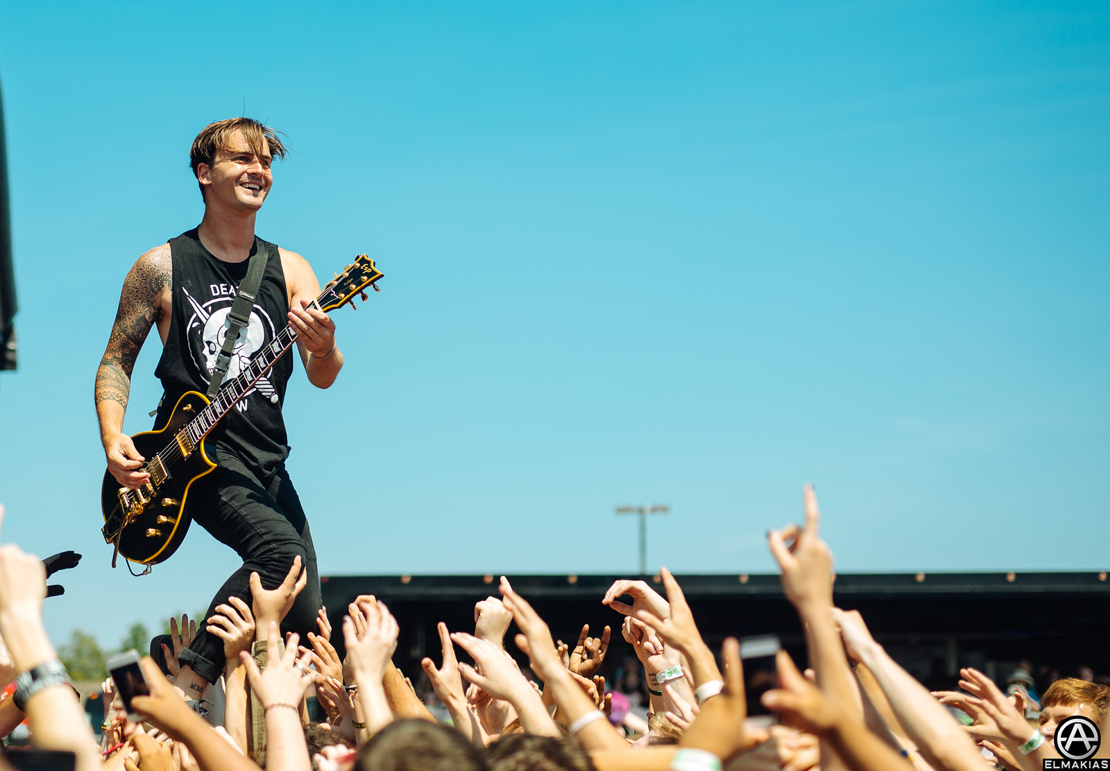 Kamron Bradbury of Beartooth live at Vans Warped Tour 2015 by Adam Elmakias