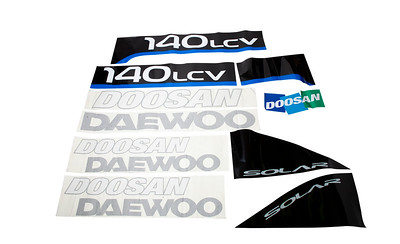 DAEWOO SOLAR 140 LCV SERIES COMPLETE DECAL SET