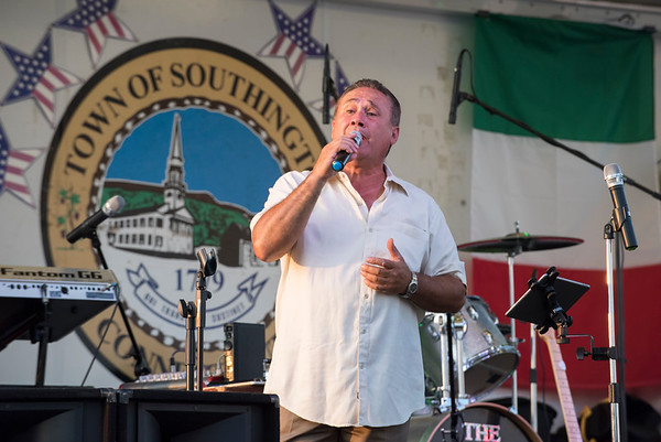 07/26/19 Wesley Bunnell | Staff Singer Teo Riciardella performs songs in Italian and English on the first night of the Italian Festival in Southington on Friday night.