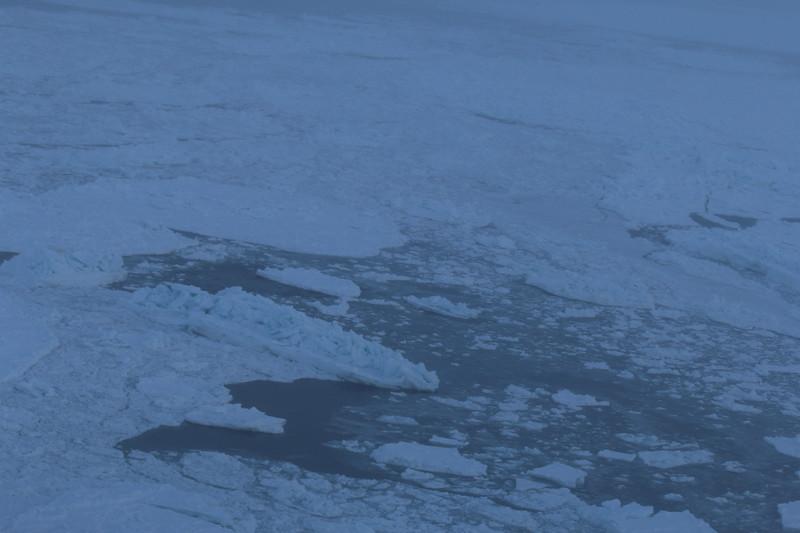 Ice freezing on Hudson Bay