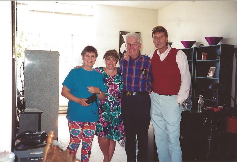 cousin Dobbie Meyermann, Vicki Skinner, uncle Bob Skinner
