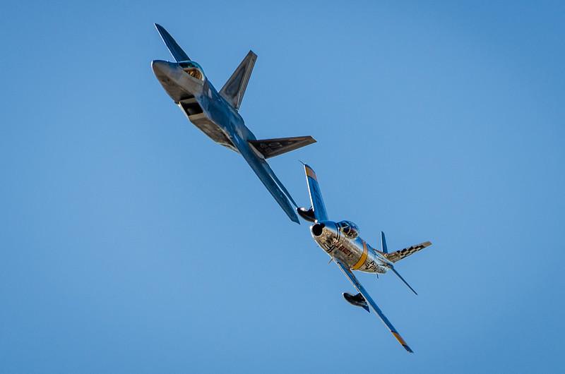 F-22- Raptor  and F-86 Sabre Jets