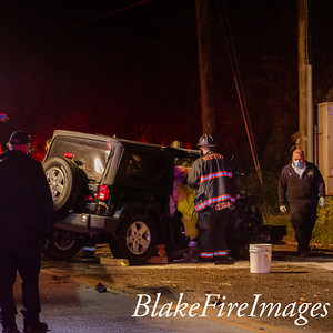 MVA With Extrication - Greens Farm Rd Westport CT - 10/30/20