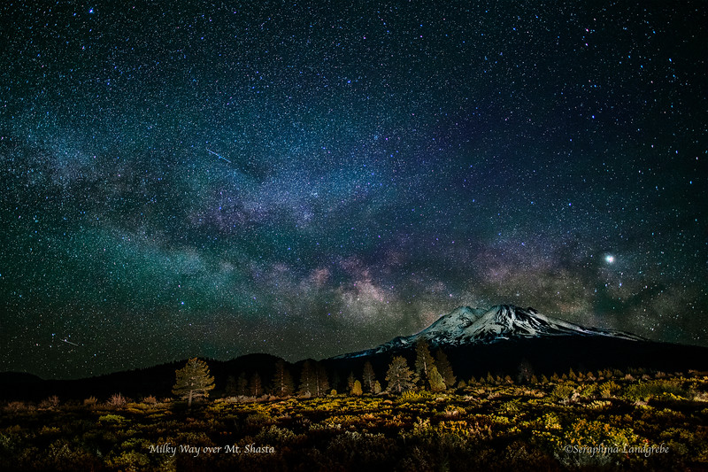 _DSC0425Milky Way Mt Shasta Lit trees.jpg