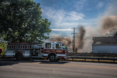 Large outside fire, 136 Dudley Ave, Wallingford, CT 06/09/20
