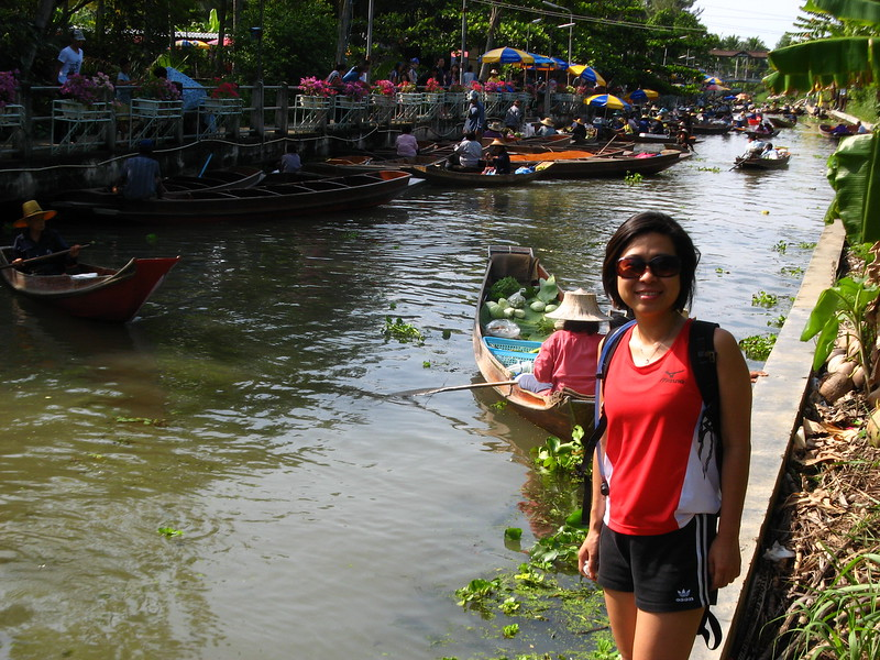 Erika at Tha Kha Floating Market