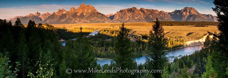 Snake River and the Teton Mountain Range in Wyoming.