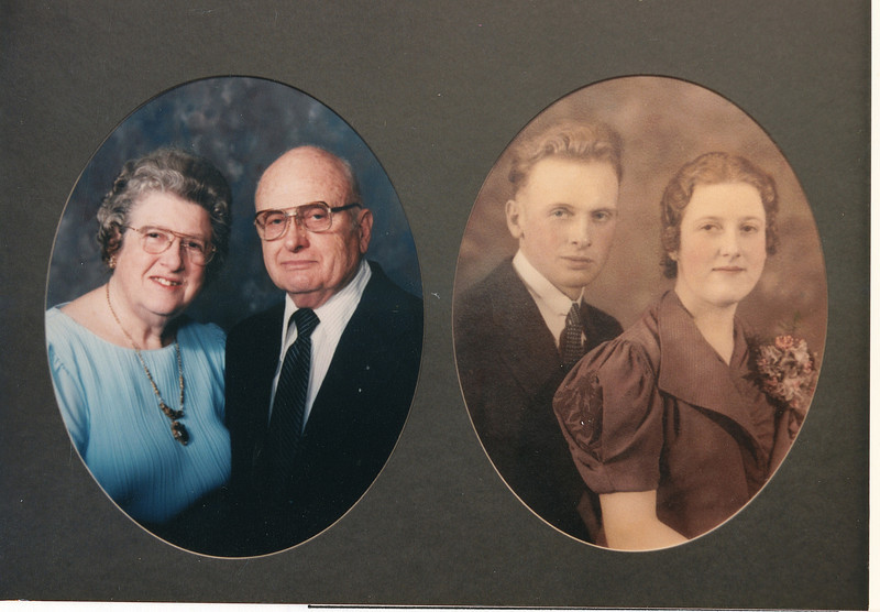 """Frank Alexander Yount (1913-2004), Margaret Louise (Dew) Yount (1916-2003)  Written in the Rogers Reunion Photo Album Volume III page 41 on the card """"Golden Anniversary 1937-1987"""""""