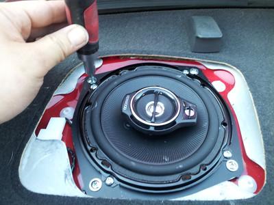 2005 Mitsubishi Lancer Evolution viii gsr Rear Deck Speaker Installation - USA