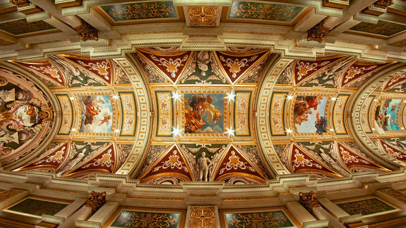 The ceiling at The Venetian Hotel.