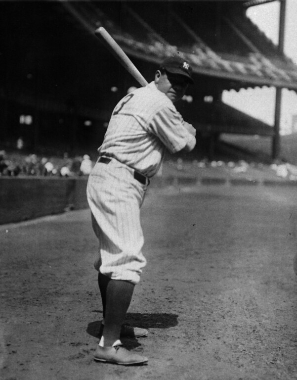 . Babe Ruth poses for the camera, date unknown.  (AP Photo)