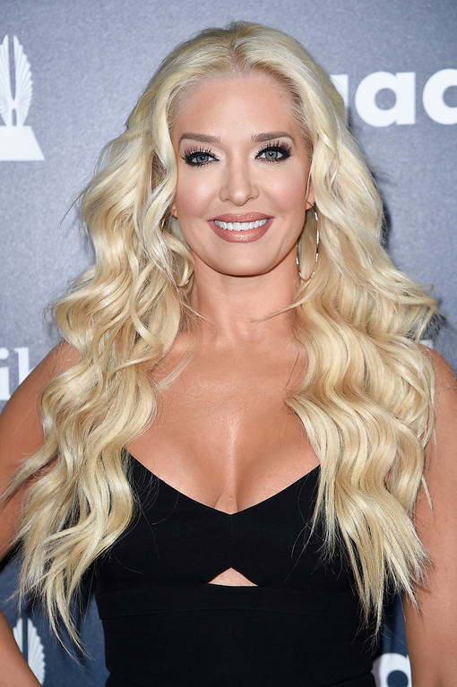 . Erika Jayne attends the 28th Annual GLAAD Media Awards at the Beverly Hilton Hotel on Saturday, April 1, 2017, in Beverly Hills, Calif. (Photo by Richard Shotwell/Invision/AP)
