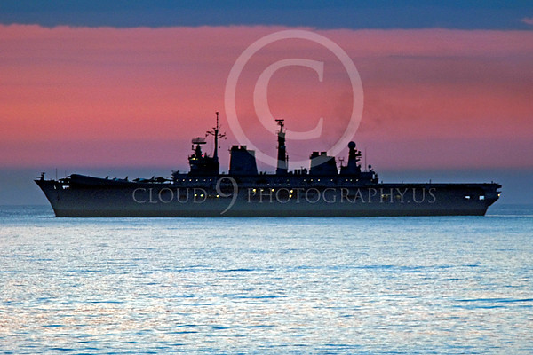 British Royal Navy HMS Illustrious Amphibious Assault Aircraft Carrier Warship Pictures