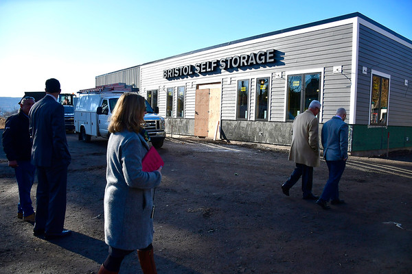 11/21/2019 Mike Orazzi | Staff A tour of Bristol Self Storage at the corner of North Main and Curtis Streets in the city on Thursday morning.