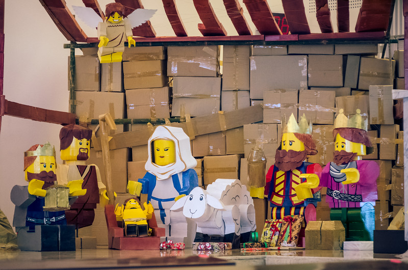 Nativity Scene from Recyclables