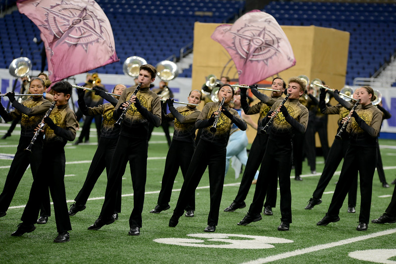 "The Vista Ridge High School marching band performs its show, ""Lost and Found,"" in the preliminary round of the UIL State Marching Band competition Monday, Nov. 5, 2018."
