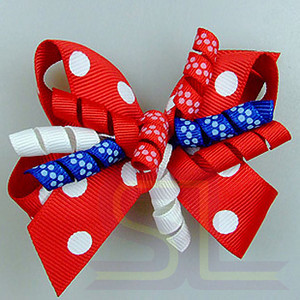 Red and White Polka Dot Bows