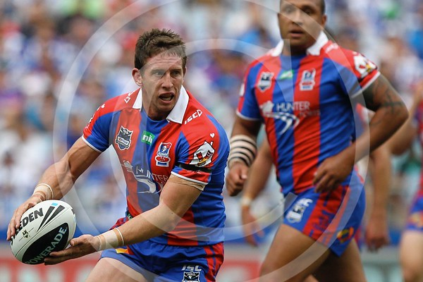 NRL. NEWCASTLE KNIGHTS V CANTERBURY BANKSTOWN BULLDOGS. RD 4. 25 MARCH 2012