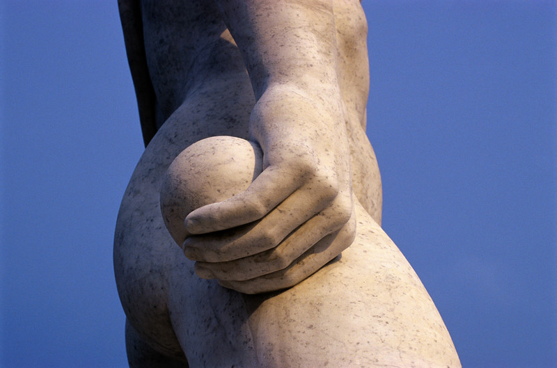 Detail of Statue at Foro Italico in Rome, Italy