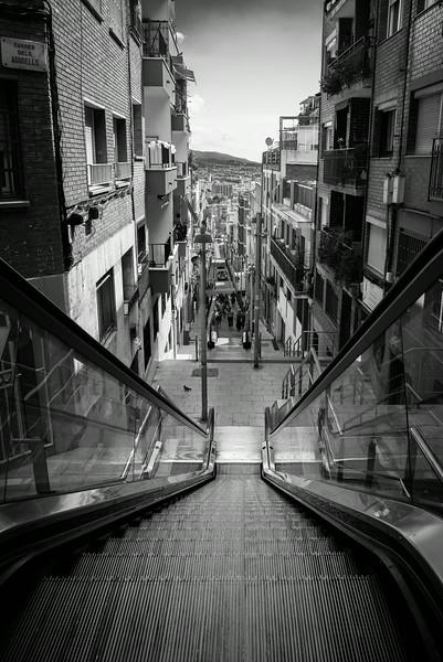 Sidewalk Escalator in Barcelona