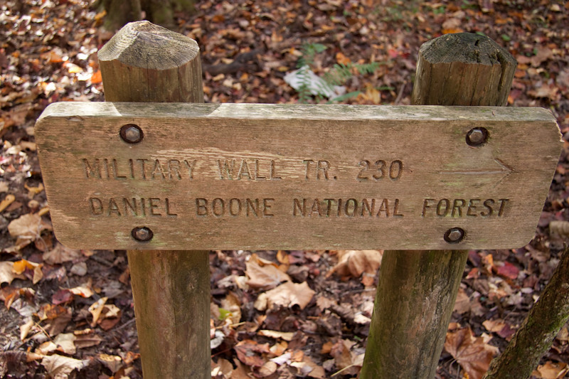 All the crags are very well signed - Daniel Boone National Forest.