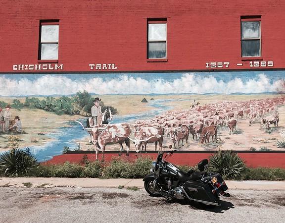 Stella Grey along historic Route 66, Yukon, OK.