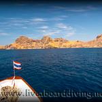 Mermaid 1 approaching Gili Banta, nr. Sumbawa, Indian ocean,  Asia