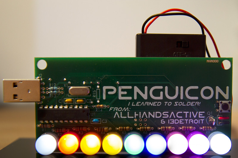 penguicon led badge