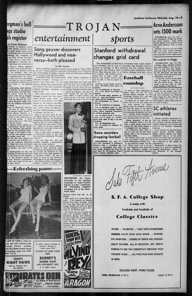 Southern California Trojan, Vol. 35, No. 20, August 18, 1943