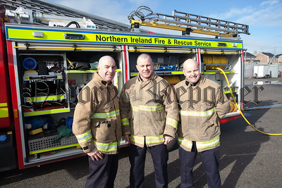 Firefighters Kieran McClelland, Barry Duffy and Sean McElroy. R1609008