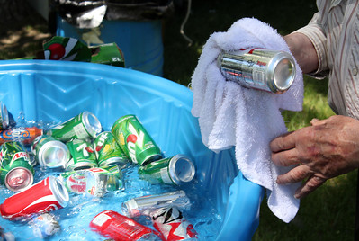 """Soft drinks abound during the hot summer days of the All Car Rally.  They were included in the Lions """"Combo"""" meal offer."""
