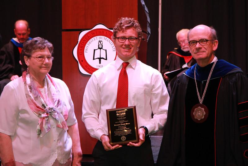 59th Academic Awards Day; Spring 2014. F. Keith Griggs Student Leadership Award: Benjamin Joseph Payne