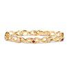 Vintage French Ruby & Diamond Serpent Bracelet 0