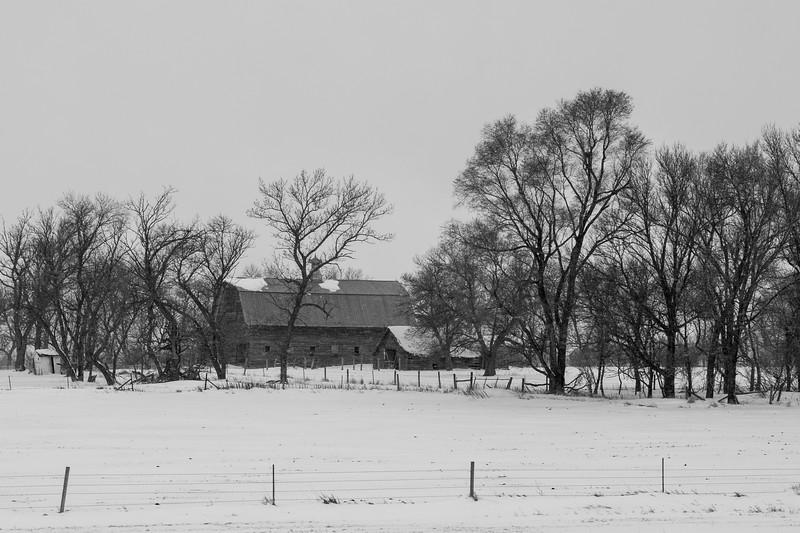 South Dakota Barn In April