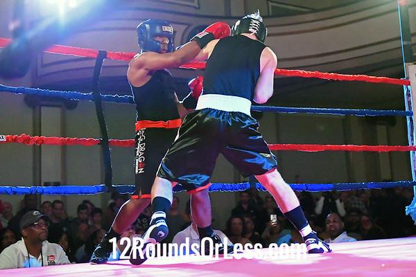 Bout #2:  Luke Munro (Blue Gloves), GriffonRawl Combat Sports  vs Raymond Scarlett (Red Gloves), Rising Dragon, 165 Lbs. - Sub-Novice